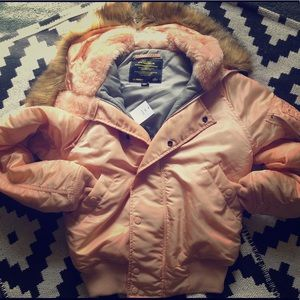 Light Pink Puffer Jacket